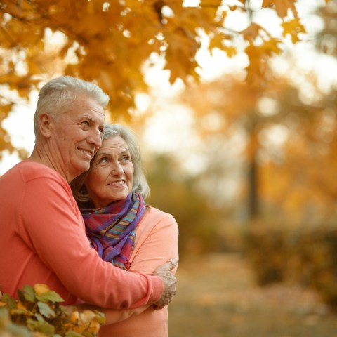 Happy older couple in retirement