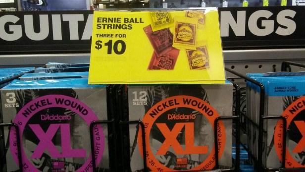 ernie ball strings sale at guitar center