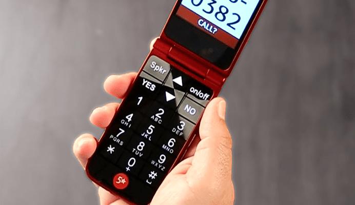 jitterbug phone in man's hand