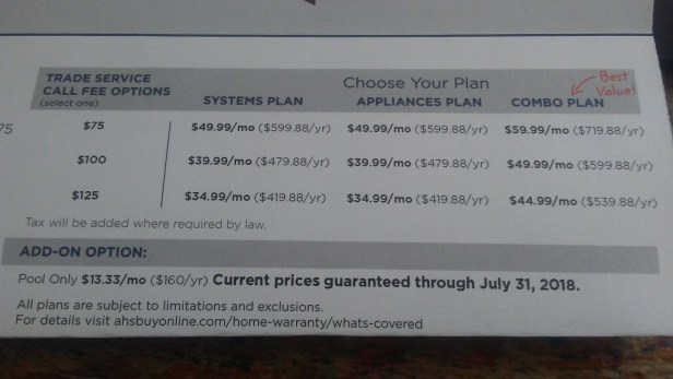 american home shield prices