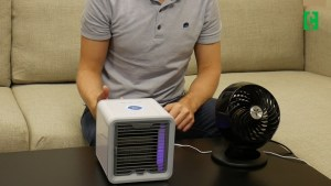 Indoor test: Arctic Air blew cooler air than a small fan