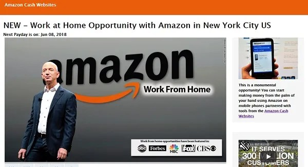 Amazon Scam Update These Work From Home Job Sites Are Fake Clark