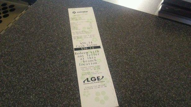 coinstar cash value receipt