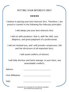 fiduciary oath