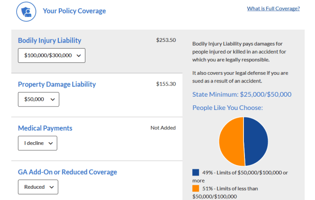 geico25 car insurance quote