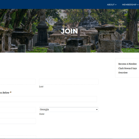 memorial society of georgia sign-up form