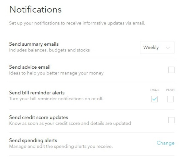 Click on the Settings tab to adjust your notifications