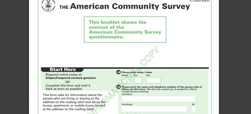 the american community survey is it legit do you have to answer