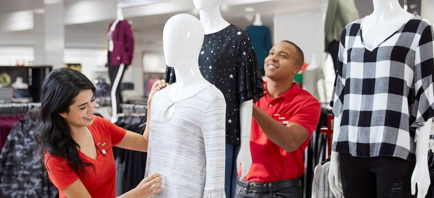 seasonal employment workers in a department store