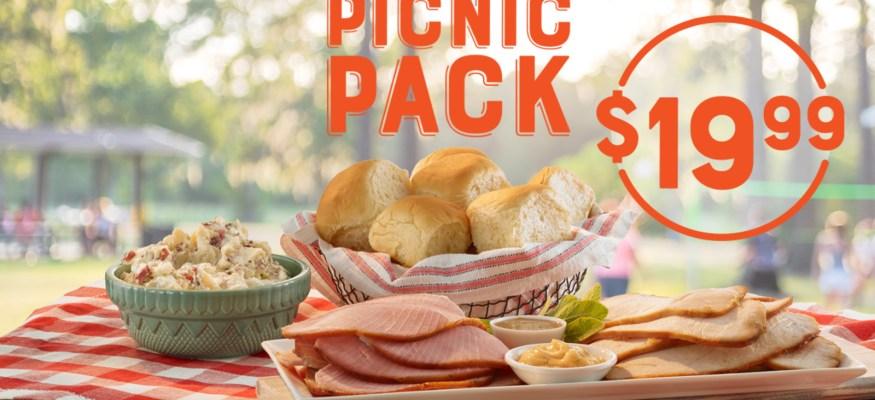 Honey Baked Ham picnic spread
