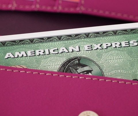 American Express credit card in wallet