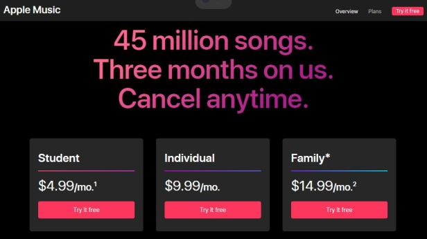 Apple Music - These movie, TV and music services offer student pricing