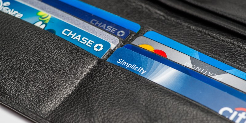 Chase credit cards in a wallet