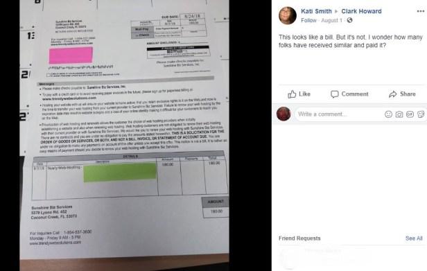 fake bill