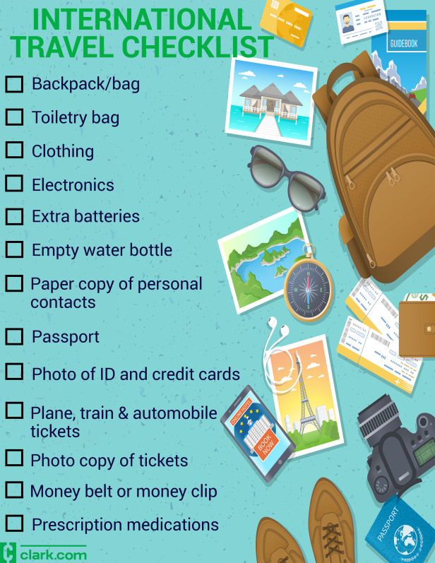Your international travel checklist: Things you should pack