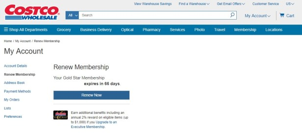 Costco renew membership expiration date