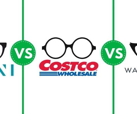 Costco Optical vs. Zenni Optical vs. Warby Parket eyeglasses comparison