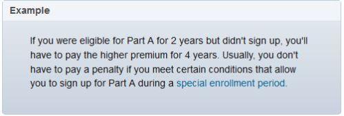 Medicare Part A late enrollment penalty