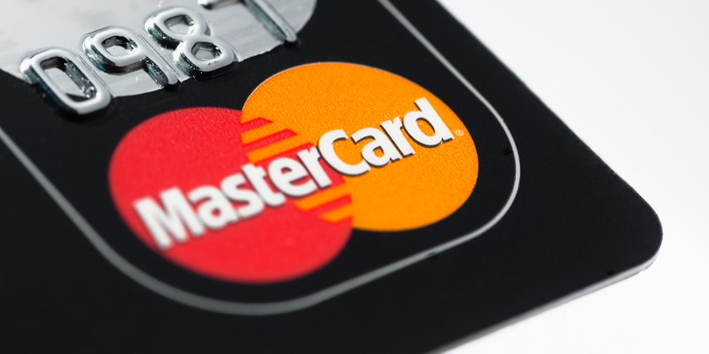 mastercard logo on credit card