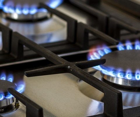 natural gas blue flame
