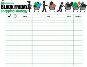 Black Friday shopping strategy