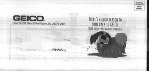 Geico mail from Informed Delivery