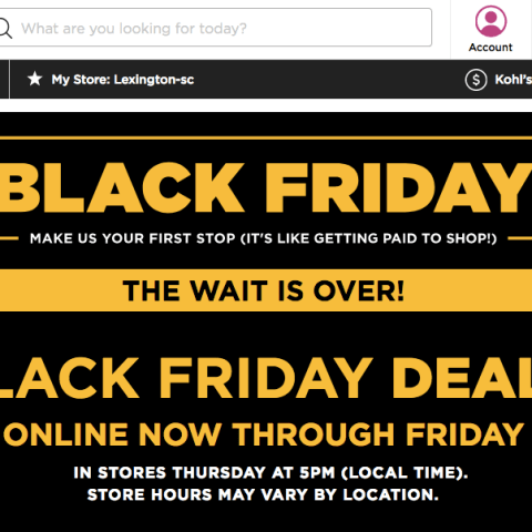 Kohl's Black Friday