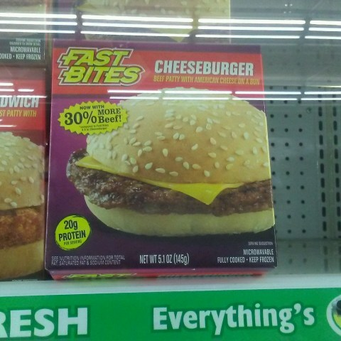 cheeseburger at dollar tree