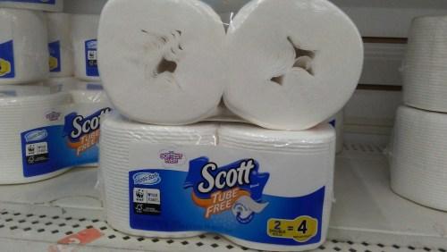 scott tube free double roll toilet paper