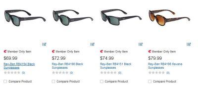 Ray-Ban sunglasses at Costco
