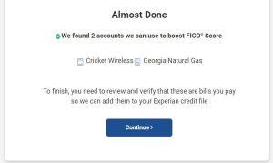 Experian Boost found 2 bills to raise my FICO score