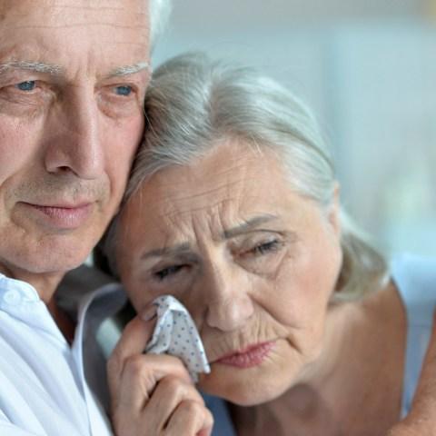 Sad grandparents