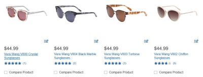 vera wang sunglasses at costco optical