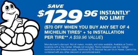 costco tire center penny installation deal