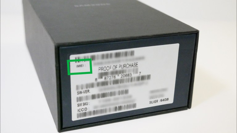 IMEI printed on phone's box