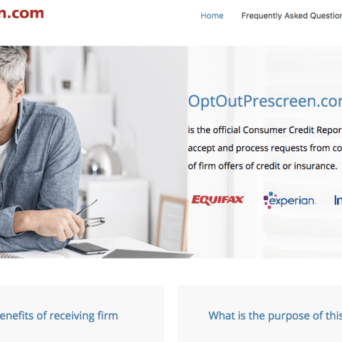 How to stop junk mail with OptOutPrescreen