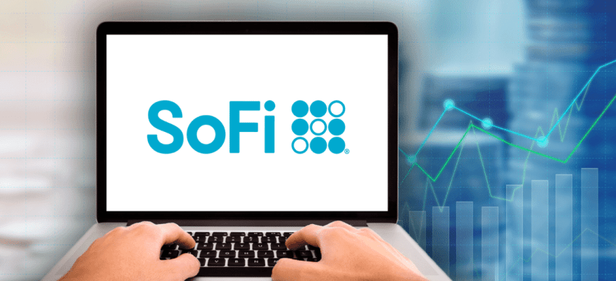 SoFi Investing on a laptop at home