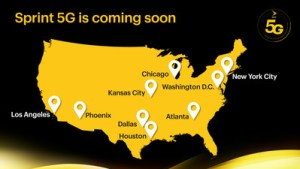 Sprint 5G service map