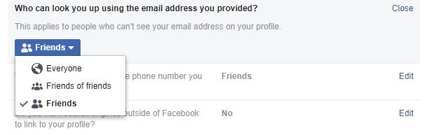 Facebook lets anyone find you using your phone number