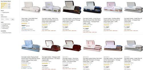 amazon caskets
