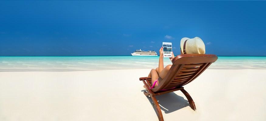 costco travel woman on beach