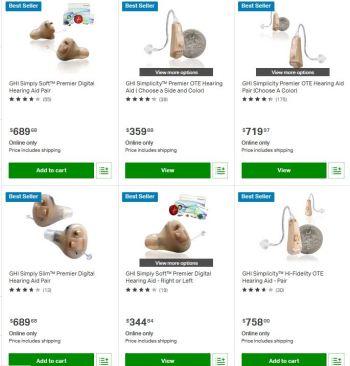 sam's club buy hearing aids online