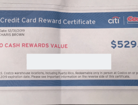 Costco rewards check