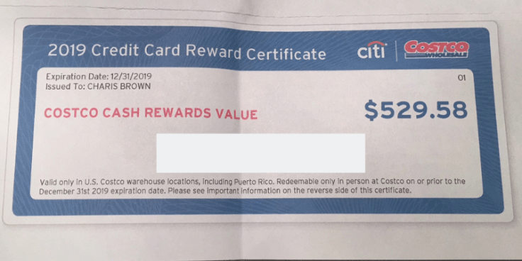 Costco rewards check