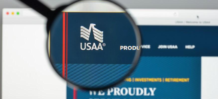 USAA homepage