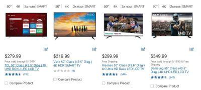 Costco TVs 50 inches