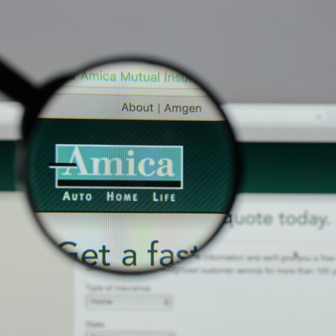 Amica Mutual homepage