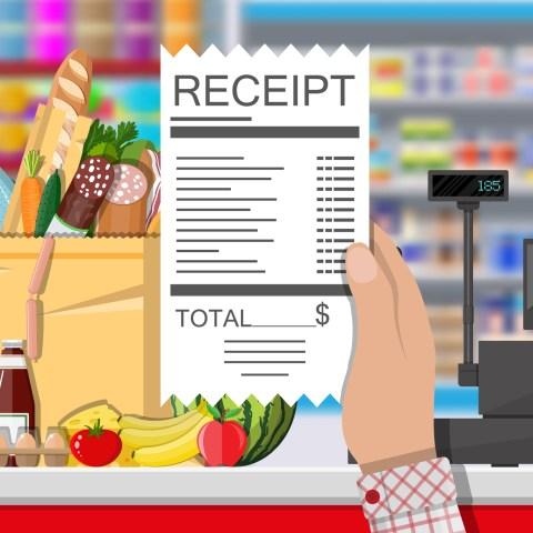 Grocery store receipt