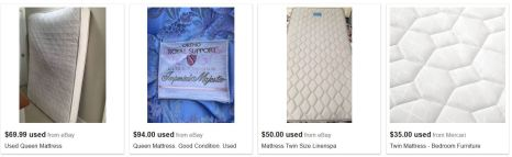 used mattresses for sale online