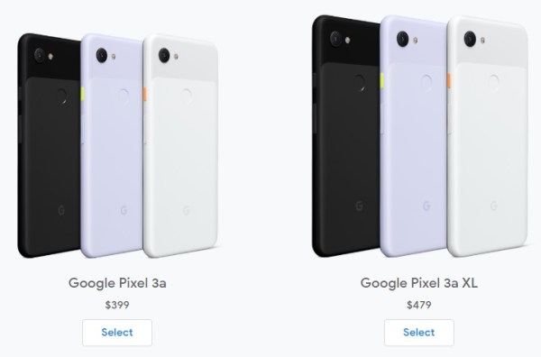 Google Pixel 3a and 3a XL
